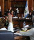 Mañana continúa la elección del presidente del Organismo Judicial, hoy los magistrados no llegaron a acuerdos. (Foto Prensa Libre: Paulo Raquec)