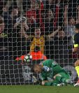 Alexis Sánchez anotó el primer gol del Arsenal en la victoria 2-0 contra el Southampton. (Foto Prensa Libre: AFP).