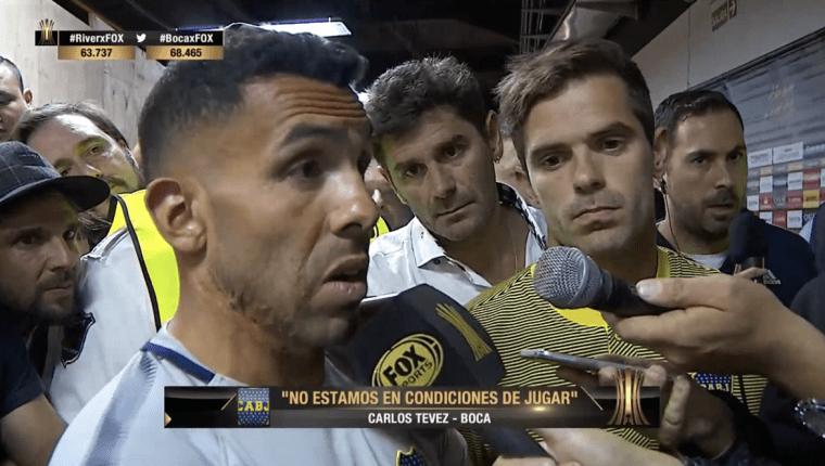 Carlos Tevez habló sobre la postura de los jugadores de Boca Juniors. (Foto Prensa Libre: Fox Sports)