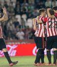 Los jugadores del Athletic de Bilbao festejaron a lo grande el triunfo. (Foto Prensa Libre: EFE).