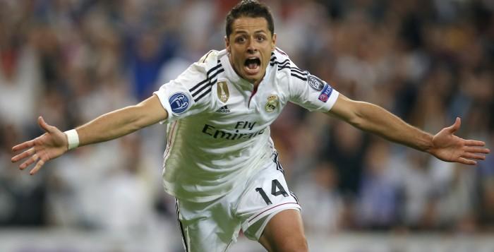 Javier Hernández militó una temporada con el Real Madrid. (Foto Prensa Libre: Hemeroteca PL)