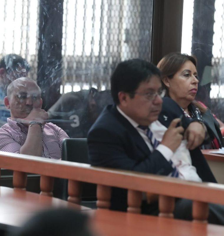"""Sergio Oliverio Urrutia Guzmán, alias """"El Patrón"""", durante la audiencia. (Foto Prensa Libre: Juan Diego González)"""