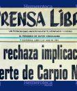 La URNG se desligó del atentado contra Jorge Carpio. (Foto: Hemeroteca PL)
