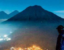 Una vista del altiplano guatemalteco, al anochecer. (Foto Prensa Libre: @marvinw.laynes)