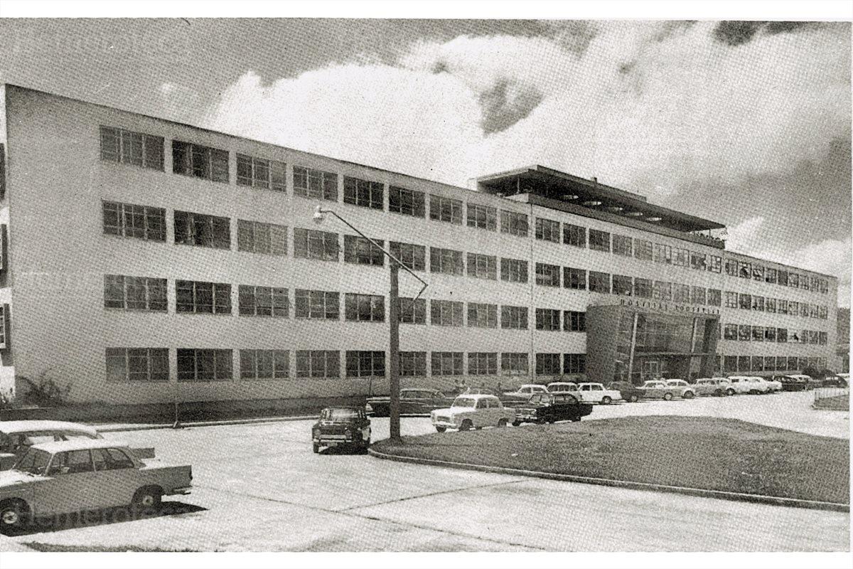1953 Fachada del Hospital Roosevelt luego de inaugurado. (Foto: Hemeroteca PL)