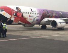El uso de la imagen de Mohamed Salah en el avión de la selección egipcia fue lo que molestó al jugador del Liverpool. (Foto Prensa Libre: Hemeroteca PL)