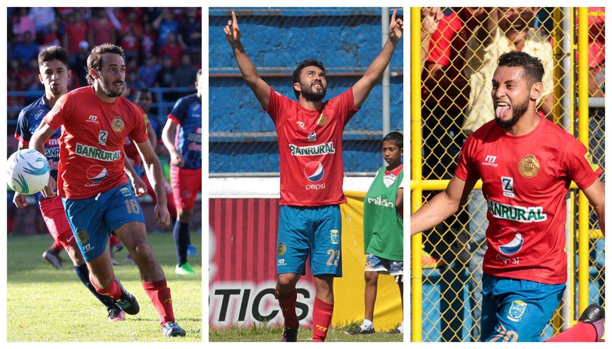 Puerari, Kimiani y Guerra tienen a los escarlatas con la ilusión de celebrar la corona. (Foto Prensa Libre).
