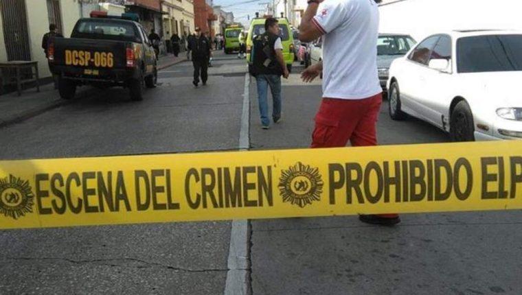 La escena del crimen de un homicidio en ciudad de Guatemala. (Foto Prensa Libre: Archivo)