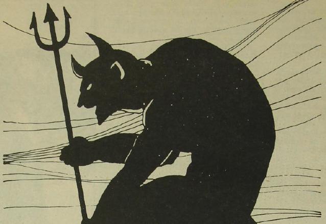 Dibujo de Arnoldo Ramírez Amaya, en el que idealizó al diablo. (Foto: Hemeroteca PL)