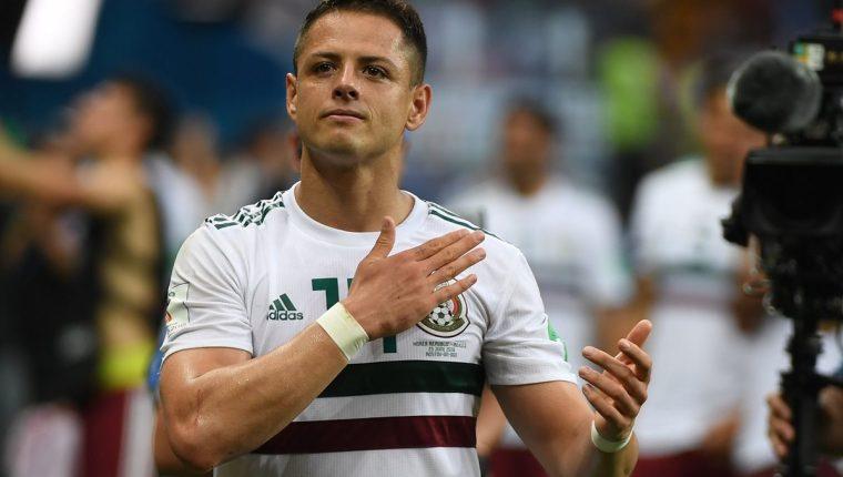 Javier Hernández siempre fue positivo con el actuar de la Selección de México en el Mundial de Rusia 2018. (Foto Prensa Libre: AFP)