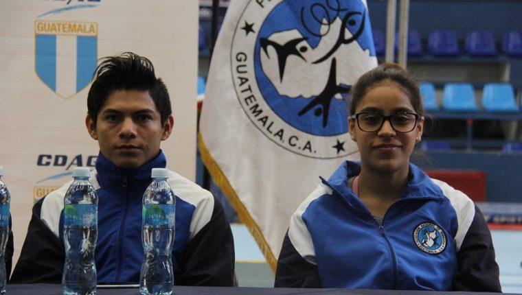 Jorge Vega y Sofía Gómez son algunas de las figuras de Guatemala que participarán en el Centroamericano de Gimnasia. (Foto COG).