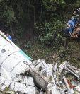 Equipos de rescate y forenses recuperan los cadáveres de las víctimas tragedia aérea. (AFP).