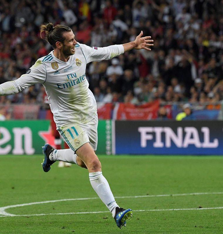 Bale anotó un golazo de chilena en la final de la Champions, que podría valerle una nominación al Premio Puskas del año. (Foto Prensa Libre: AFP)