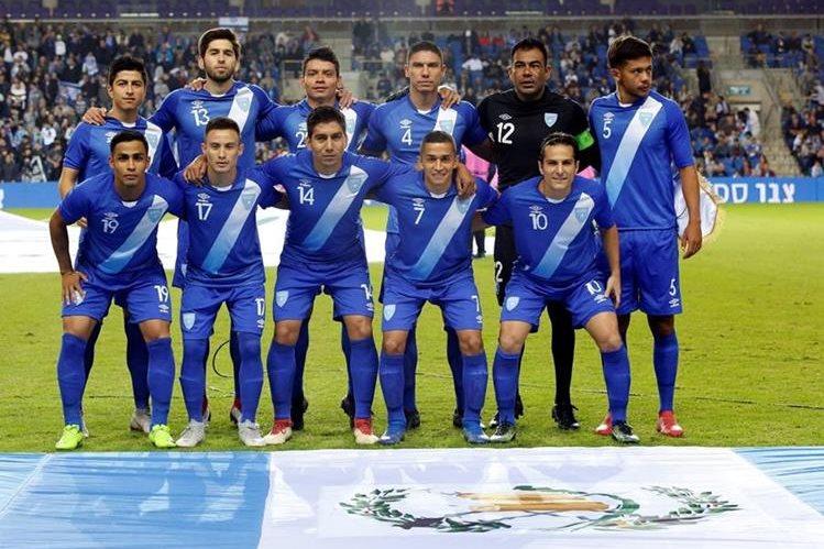 Este fue el once titular de Guatemala frente a Israel. (Foto Prensa Libre: Hemeroteca PL)