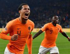 El holandés Virgil van Dijk fue fulminante y acabó con las aspiraciones de Alemania y Fracia. (Foto Prensa Libre: EFE)