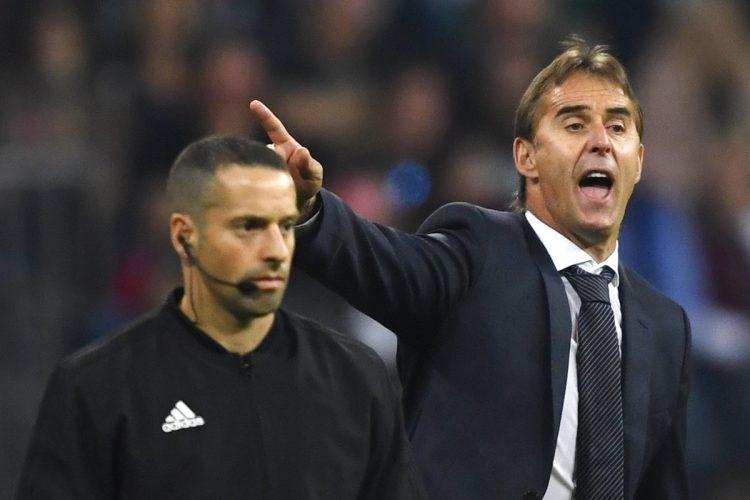 El entrenador vasco Julen Lopetegui sufrió en el banquillo del Real Madrid.