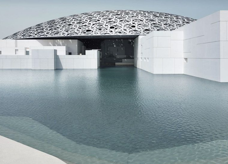 Exterior del Louvre en Abu Dabi © Louvre Abu Dhabi, Foto: Mohamed Somji