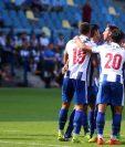 Jugadores del Porto festejan el triunfo. (Foto Prensa Libre: Twitter)
