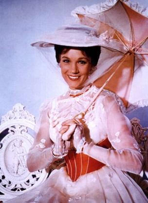 Julie Andrews ganó un Oscar a Mejor Actriz por su interpretación en Mary Poppins. (GETTY IMAGES)