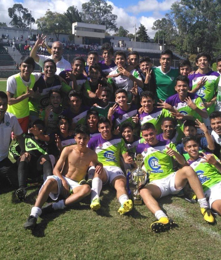 Antigua GFC de la categoría sub 17 ganaron el título. (Foto tomada de la Liga Nacional)