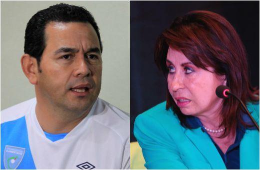 Jimmy Morales, de FCN-Nación y Sandra Torres, de la UNE, competirán por la presidencia en la segunda vuelta electoral. (Foto Prensa Libre: HemerotecaPL)