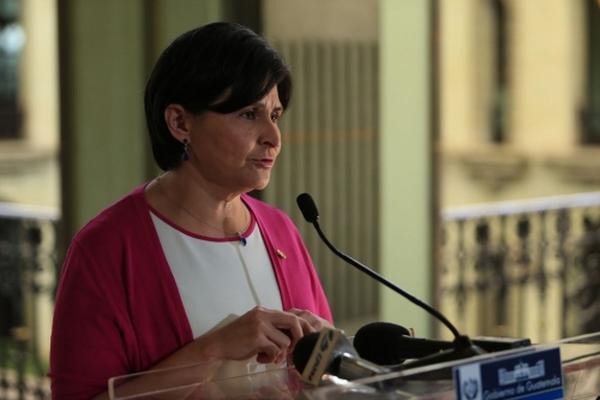 María Castro explica los retos pendientes para el Ministerio de Finanzas. (Foto Prensa Libre: Scspr)