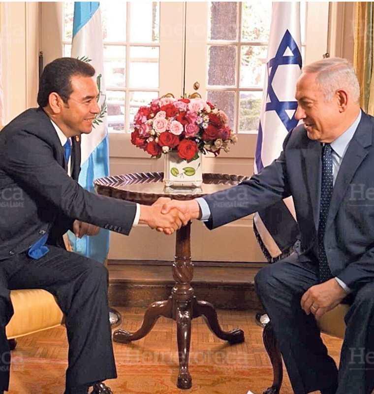 Morales saluda al primer ministro israelí Benjamín Netanyahu,  a su llegada a la Conferencia del Comite? de Asuntos Pu?blicos Estadounidense-Israeli?, el 4/3/2018 (Foto: Hemeroteca PL)