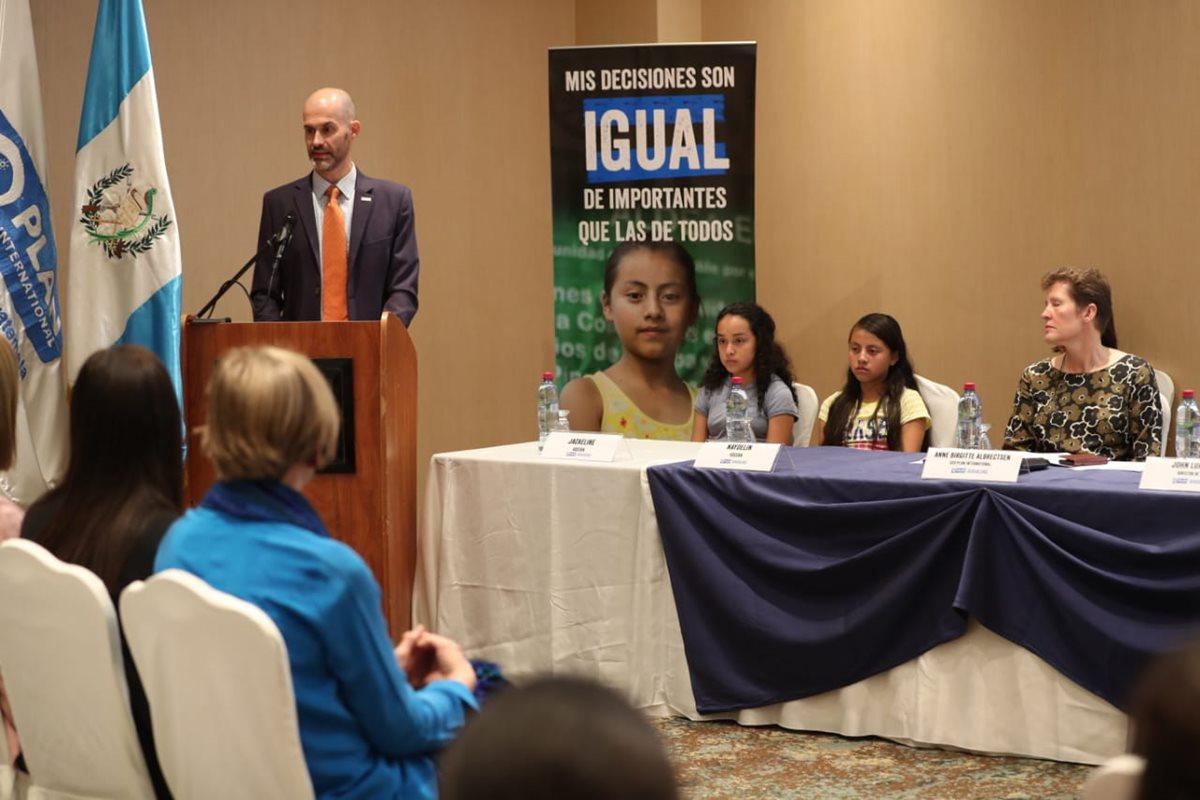 La campaña Niñas con Igualdad de Plan Internacional busca empoderar a las niñas en sus comunidades. (Foto Prensa Libre: Carlos Hernández)