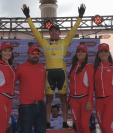 Alfredo Ajpacajá seguirá como líder de la 58 Vuelta a Guatemala por una etapa más. (Foto Prensa Libre: Carlos Vicente)