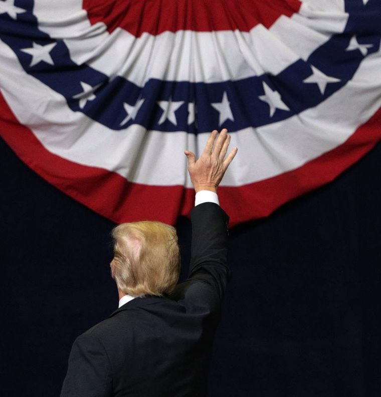 Donald Trump, en Chattagoca, Tennessee. (Foto Prensa Libre: AFP)