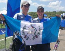Marcelo del Cid y Sofía Paiz ganaron la medalla de oro número 21 para Guatemala. (Foto Prensa Libre: Carlos Vicente)