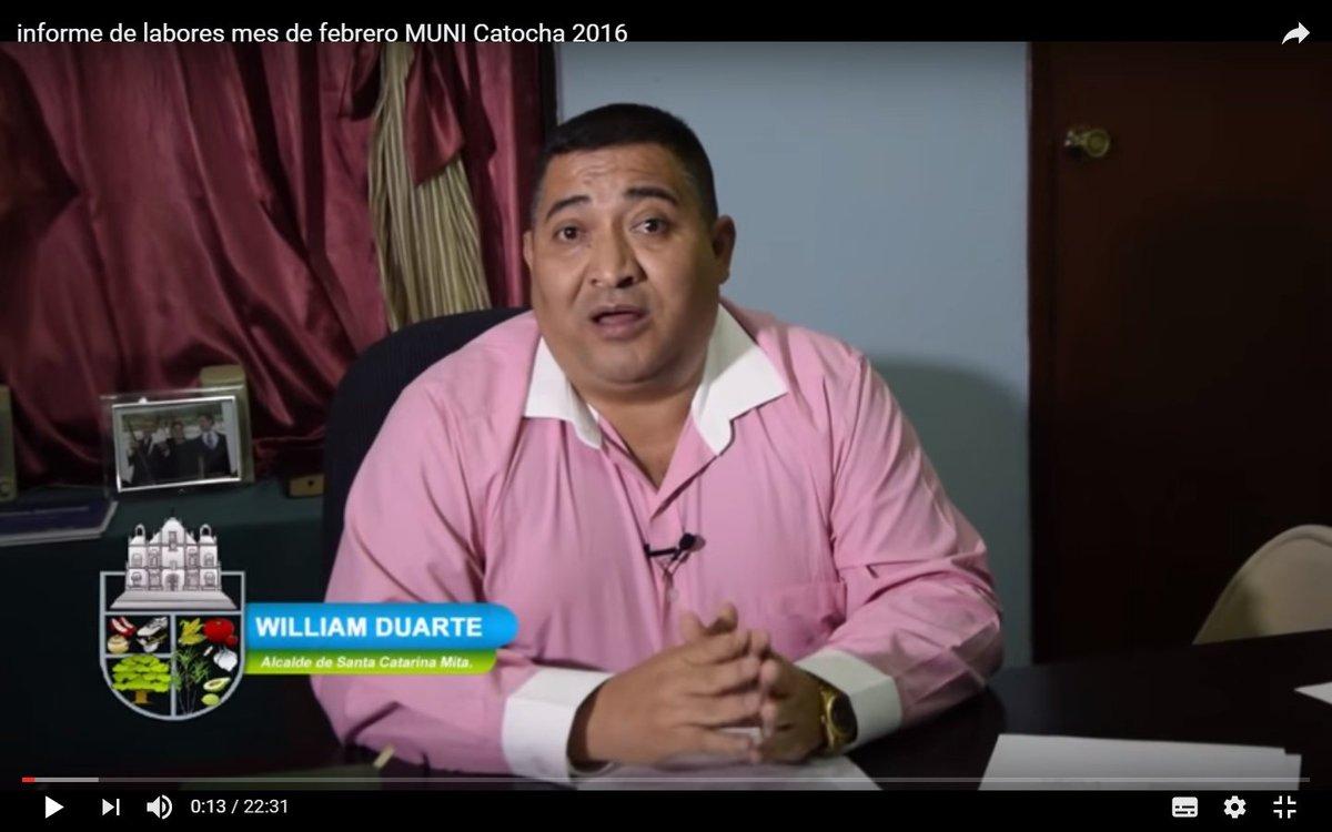 William Duarte, alcalde de Santa Catarina Mita, es sindicado de testaferrato y falsificación de documentos privados, y está implicado en el caso Lavado y Política. (Foto Prensa Libre: Municipalidad de Santa Catarina Mita)
