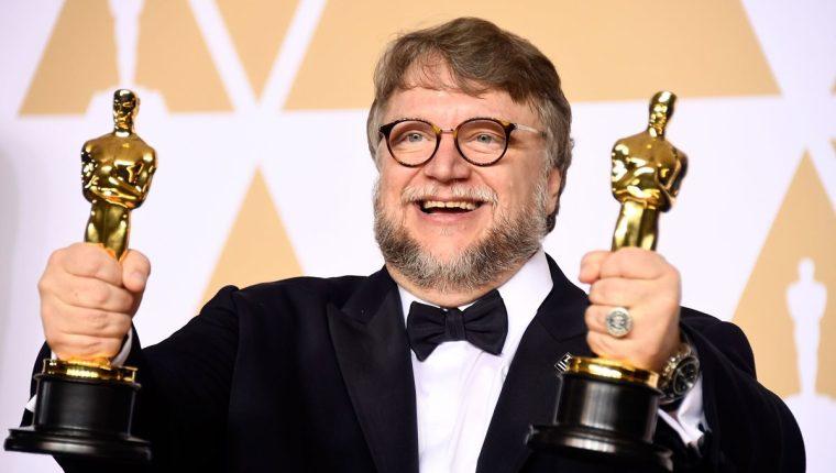 """Guillermo del Toro obtuvo dos Óscar, mejor director y mejor película, por su trabajo en el filme """"La forma del agua"""". (Foto Prensa Libre: AFP)."""
