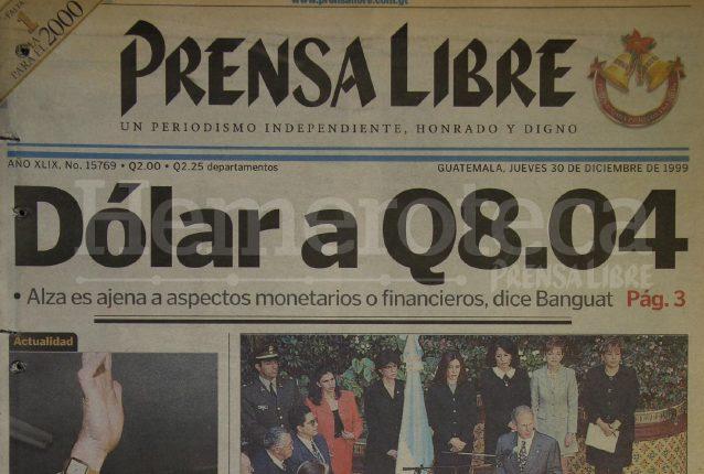 Ular De Prensa Libre Del 30 Diciembre 1999 Foto Hemeroteca Pl