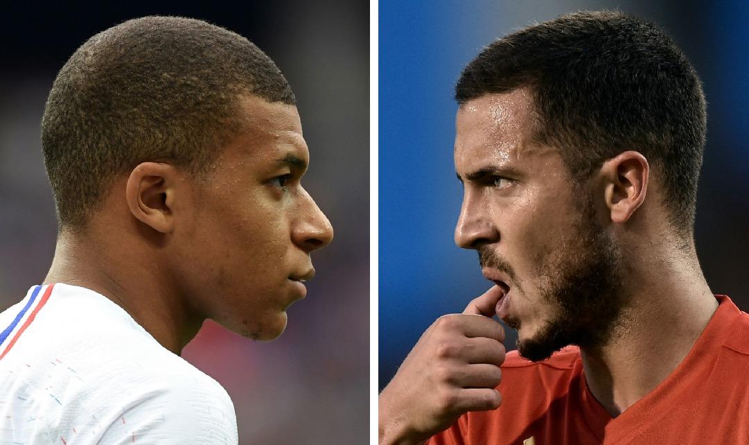Oliver Giroud habló de su relación con Eden Hazard y Kylian Mbappé. (Foto Prensa Libre: AFP)