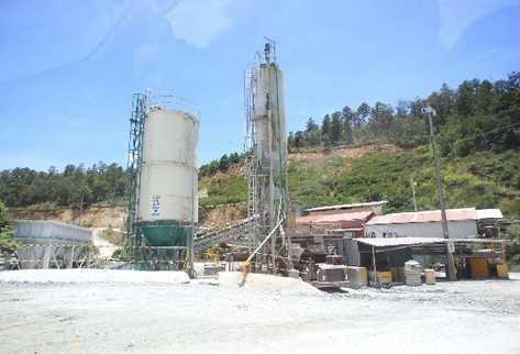 La mina marlin,  que extrae oro, opera en San Miguel Ixtahuacan, San Marcos.