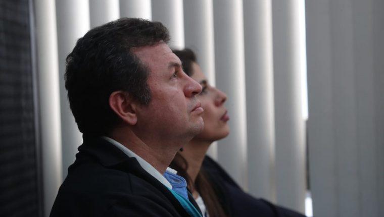 """Roberto López Villatoro, conocido como """"El Rey del Tenis"""", durante la audiencia. (Foto Prensa Libre: Erick Avila)."""