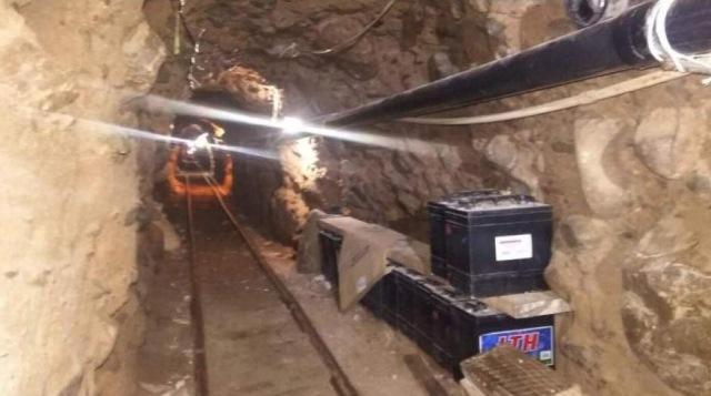 Descubren túnel para trasiego de droga en frontera México-EEUU