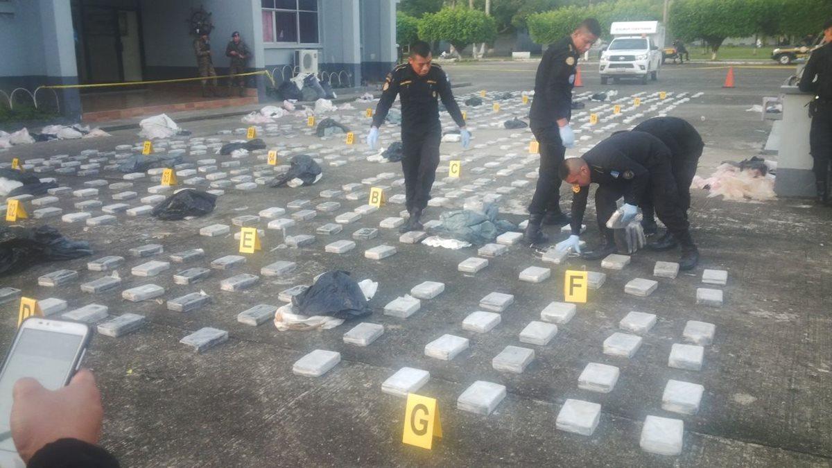 Cocaína decomisada está valorada en Q172 millones
