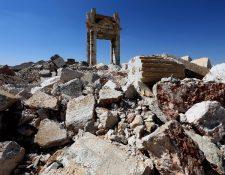 La ciudad siria de Palmira destruida por yihadistas.(AFP).