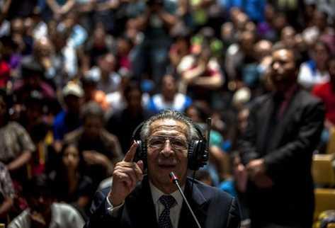 Yo no soy genocida  afirmó Ríos Montt. (Foto Prensa Libre: EFE)