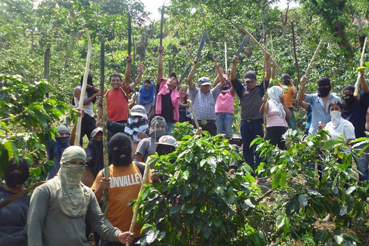 Campesinos invaden finca para exigir pago de prestaciones laborales en El Tumbador
