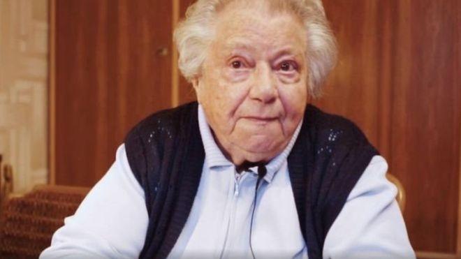Gertrude, una austríaca de 89 años y sobreviviente del Holocausto, realizó un video para advertir sobre los peligros de la extrema derecha. ALEXANDER VAN DER BELLEN