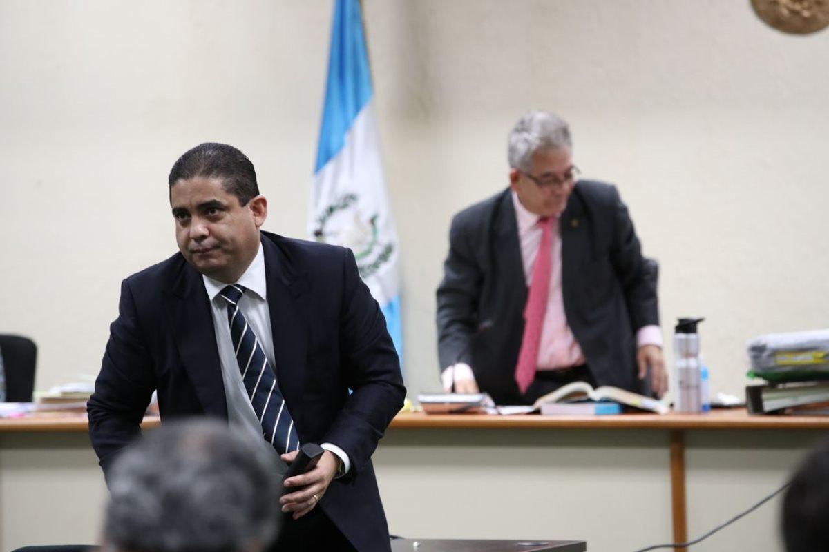 Juan Carlos Monzón durante la audiencia de este lunes. (Foto Prensa Libre: Paulo Raquec).