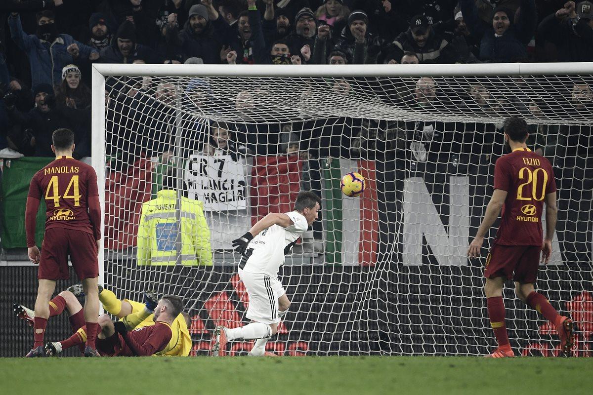 La Juventus no defraudó y volvió a quedarse con los tres puntos. Superó a la Roma 1-0. (Foto Prensa Libre: AFP)