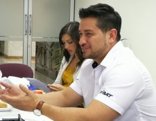Adrián Zapata Alamilla durante una conferencia en mayo pasado. (Foto Prensa Libre: Urías Gamarro).