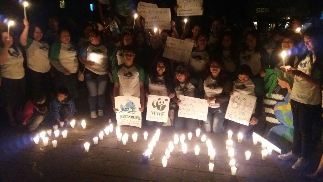 Pocos guatemaltecos se unen a La Hora del Planeta