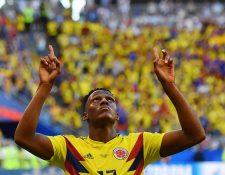 Ni James Rodríguez ni Falcao se han robado el protagonismo en la selección cafetera como Yerry Mina, quien ha respondido con goles para el cuadro sudamericano. (Foto Prensa Libre: AFP)
