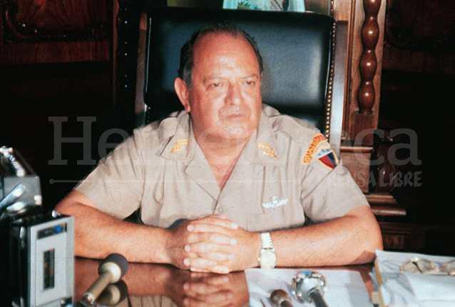 El general Mejía Víctores asumió como Jefe de Estado de facto el 8 de agosto de 1983. (Foto: Hemeroteca PL)