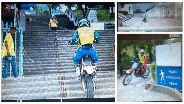Capturas de un video de la competencia de motoenduro. (Foto: Hemeroteca PL)
